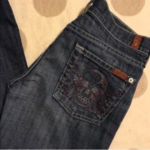 7 for all Mankind Crystal Skull A pocket jeans